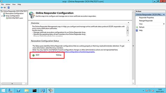 Server 2012 OCSP Working