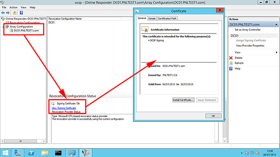 Server 2012 Checking 2012 OCSP Certificate