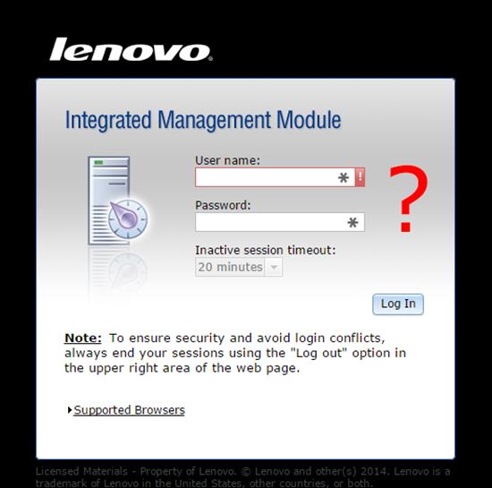 IMM default password