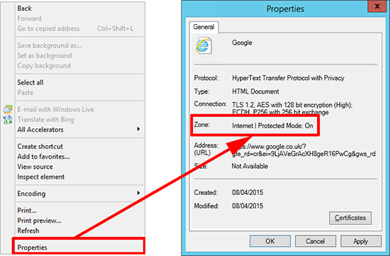 IE Find your Internet Zone