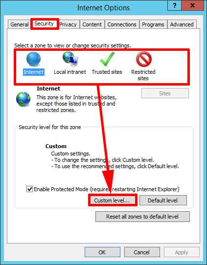IE Security Level