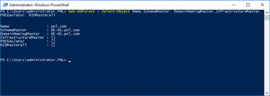 Locate Forest FSMO PowerShell
