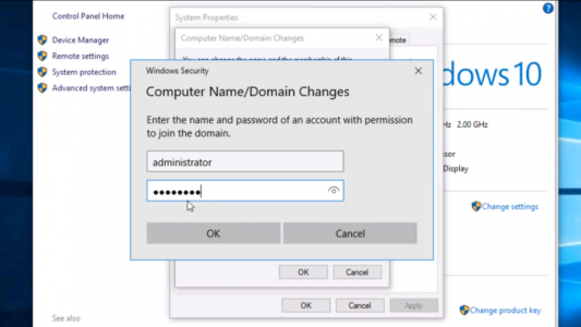 Authenticate to Domain