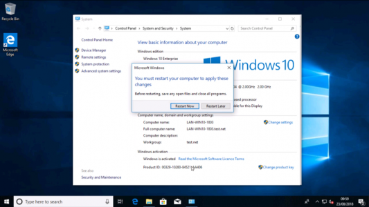 Reboot Win10 to Join Domain
