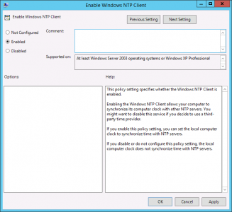 Enable windows NTP Client