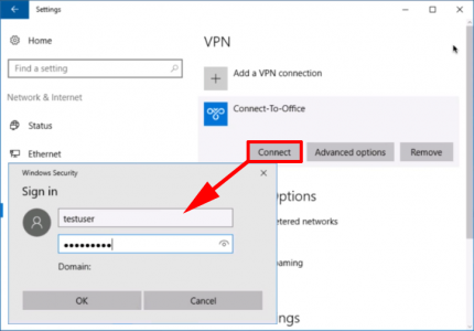 Windows 10 Connect VPN