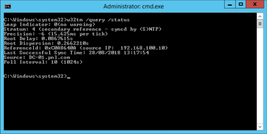 Test Domain NTP Time via GPO