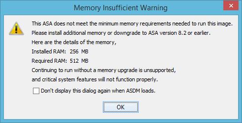 ASDM Memory Error