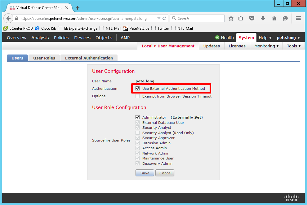 Cisco FirePOWER Management Center Appliance - Allowing Domain