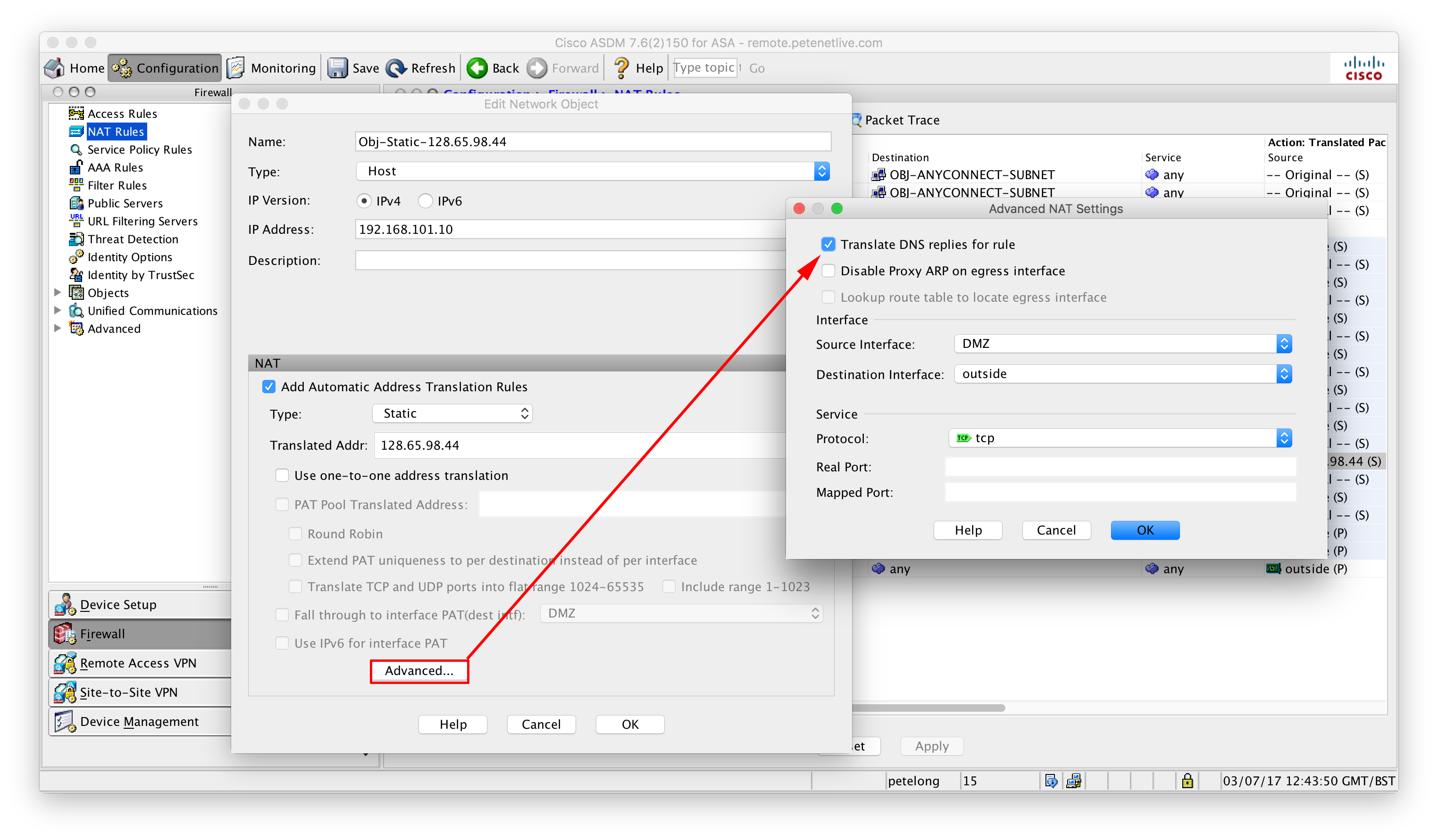 Cisco ASA - DNS Doctoring | PeteNetLive