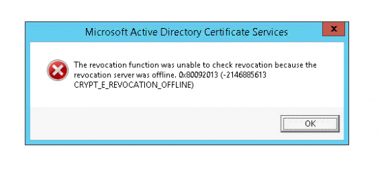 CRYPT_E_REVOCATION_OFFLINE