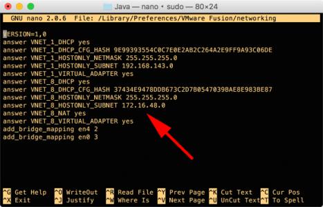 VMware fusion IPs