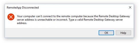 RemoteApp Error RDSG