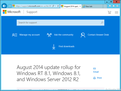 Javascript enabled server 2012