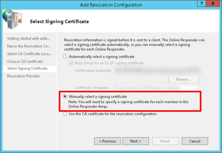 Manually Select Signing Certificate
