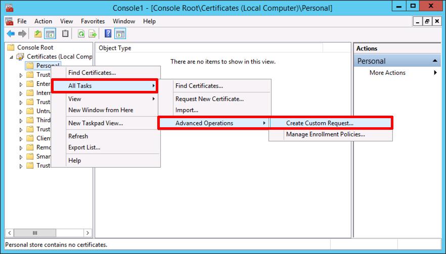 Certificate Services Create A Wildcard Certificate Petenetlive