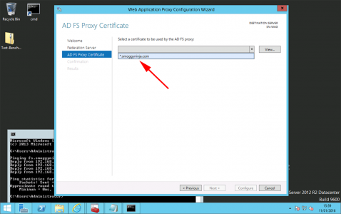 web application proxy certificate