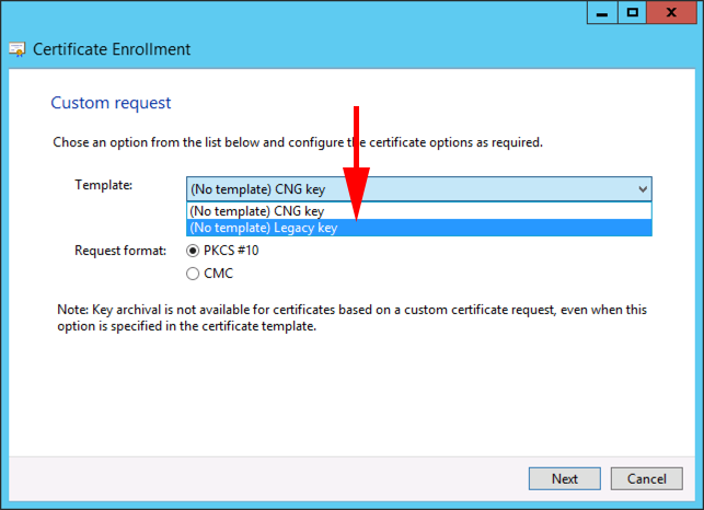 Certificate services create a wildcard certificate petenetlive wildcard legacy csp details properties certificate request yadclub Gallery
