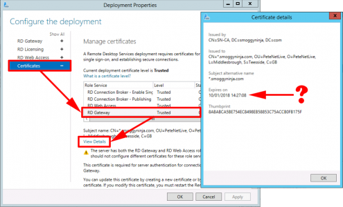 Remote Desktop Services Change Certificates