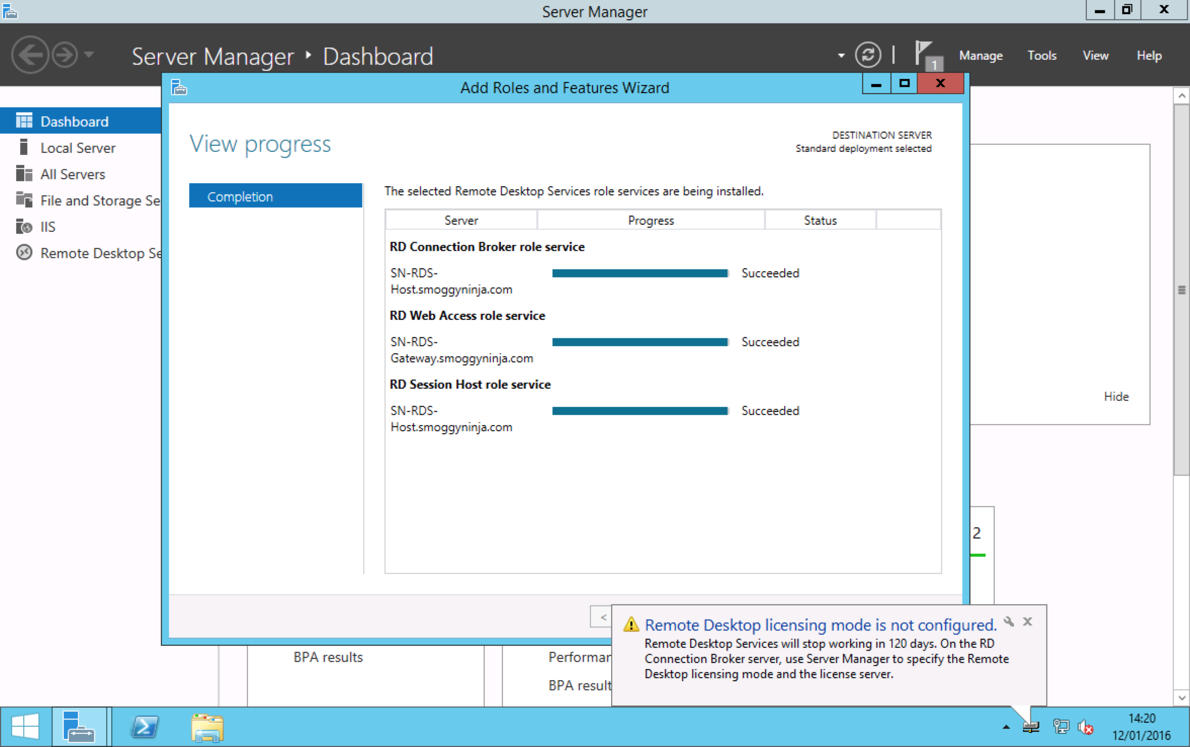 Windows Server 2012 R2 - Deploying Remote Desktop Services   PeteNetLive