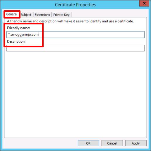 Certificate Services - Create a 'Wildcard Certificate' | PeteNetLive