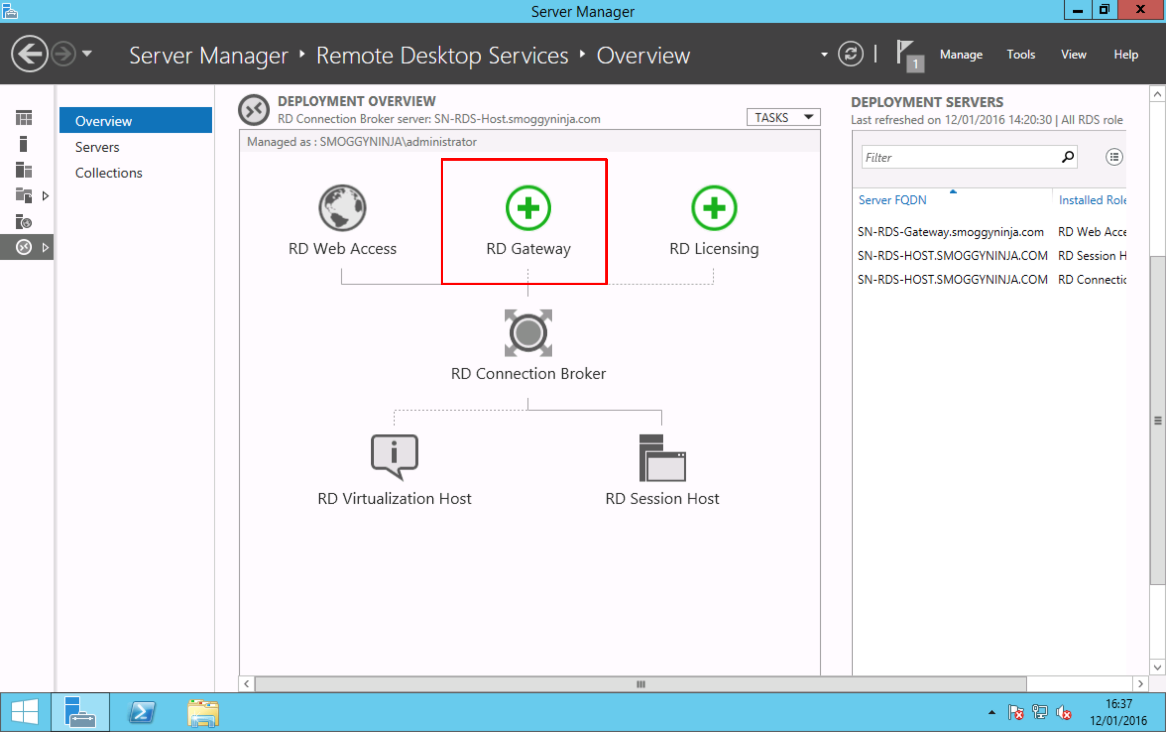 Windows Server 2012 R2 - Deploying Remote Desktop Services