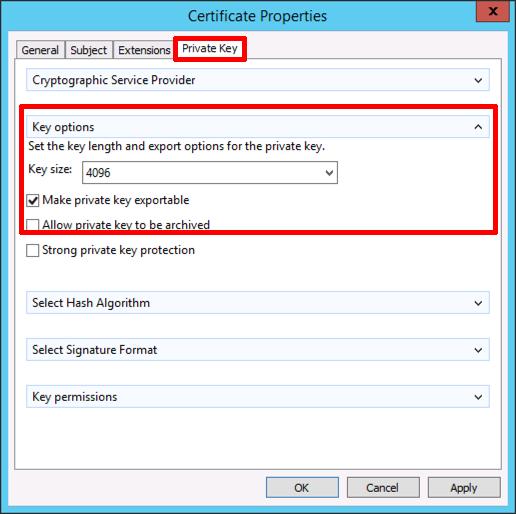 Certificate services create a wildcard certificate petenetlive wildcard cert key length yelopaper Images