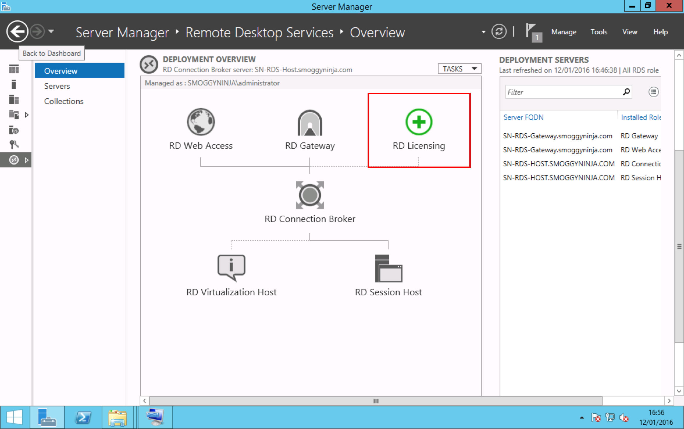 how to add a quick session collection in server 2012