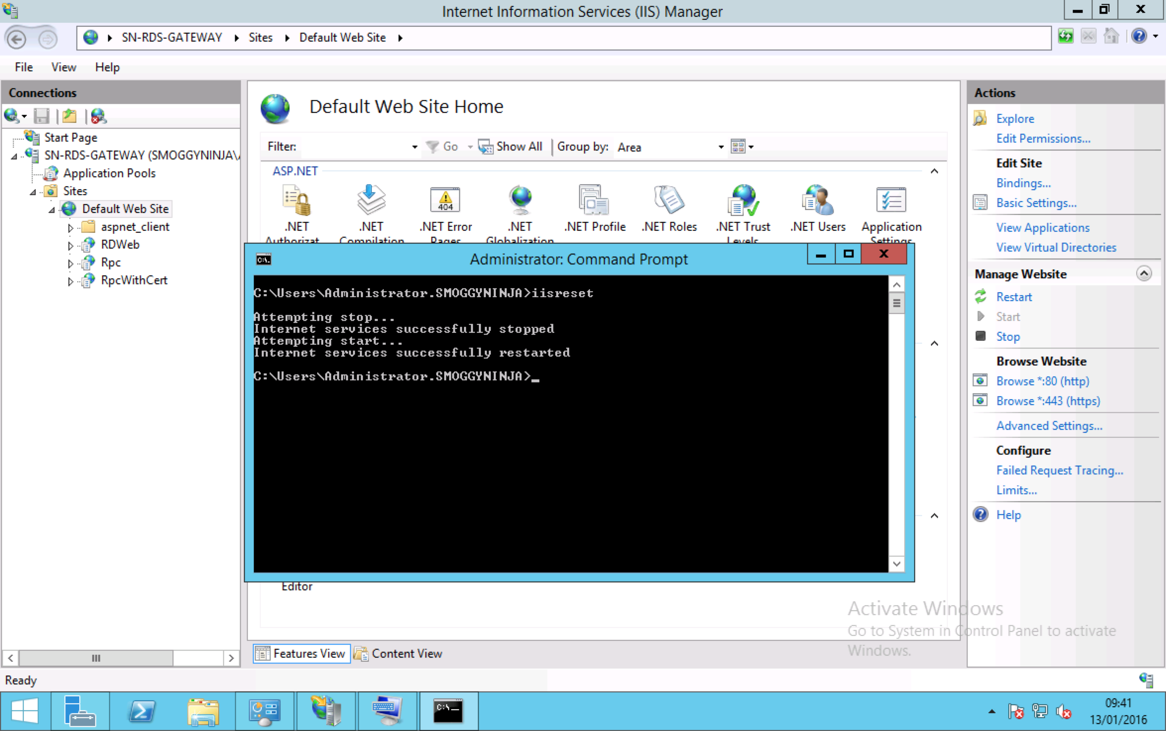 Update 070316 You also will need to restart the Remote Desktop Services  Service!