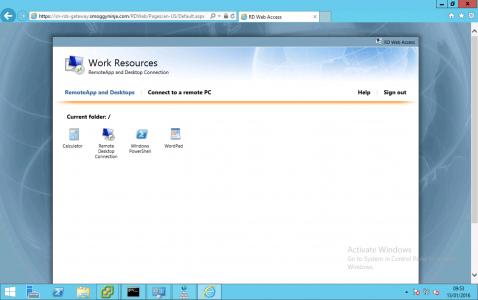 RDWeb Portal