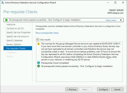 Server 2019 Configure ADFS