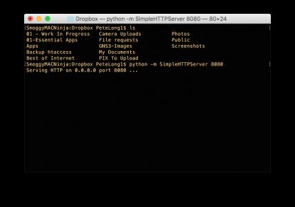 mac quick web server