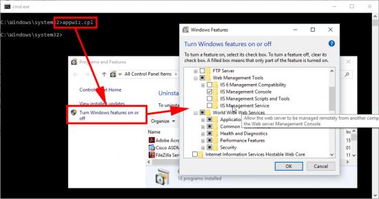 Windows 10 Install IIS