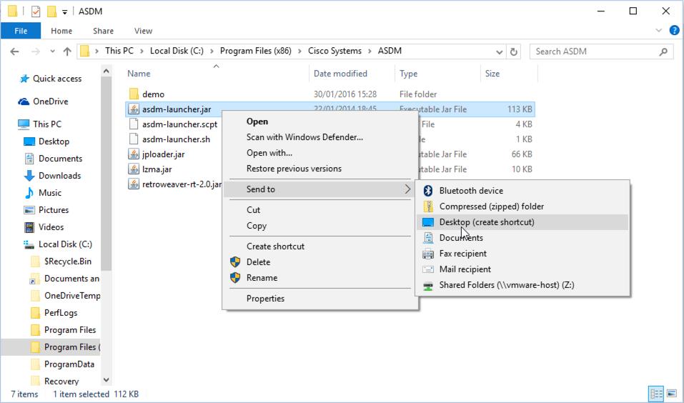 Cisco ASDM and Windows 10 | PeteNetLive