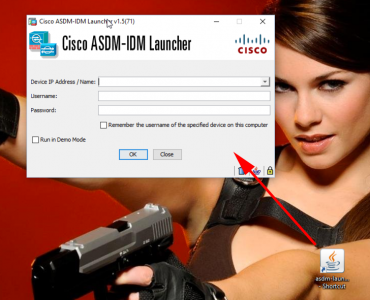 Run Cisco ASDM in Windows 10
