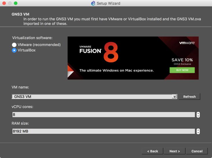 GNS3 Update - Could Not Find a VM Named 'GNS3 VM' | PeteNetLive