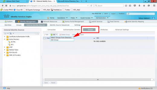 AD Groups in Cisco ISE