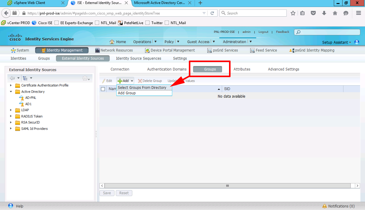AnyConnect Group Authentication With Cisco ISE and