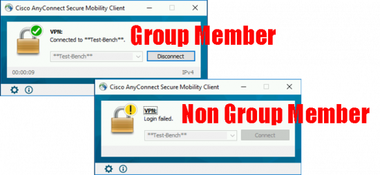 LDAP Group Logon AnyConnect
