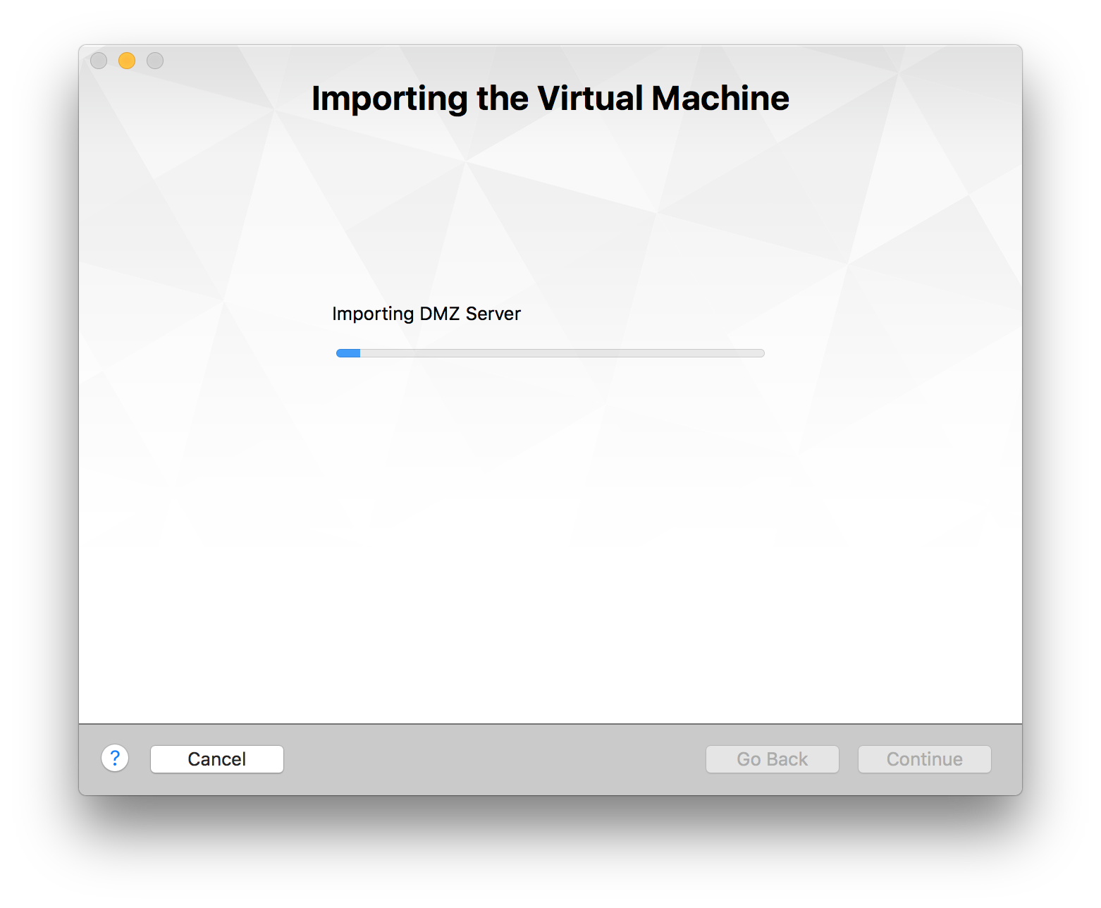vmware fusion export machine