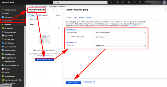 Create Azure Resource Group VPN