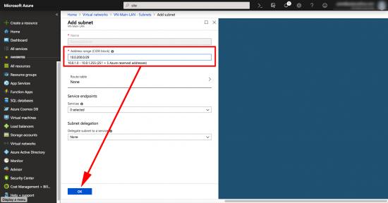 Create Azure Gateway Subnet VPN