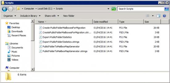 public folder migration scripts