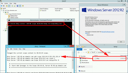 Server 2012 Export DHCP Scope