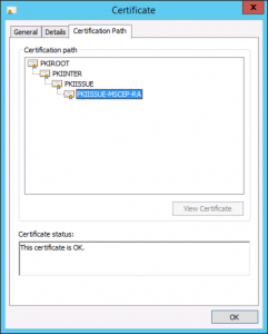 NDES Certificate Chain