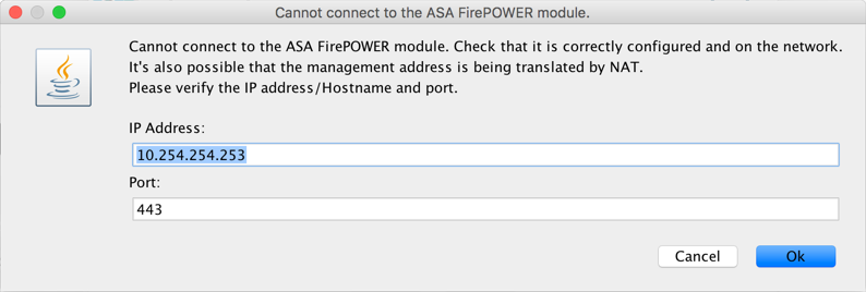 Cisco - Cannot Connect to the ASA FirePOWER Module | PeteNetLive