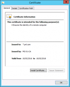 Certificate import to Netscaler