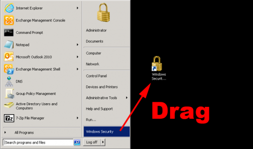 004 Windows Security Shortcut