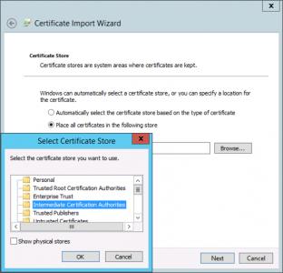 Intermediate CA Certificate