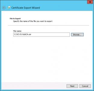 Save CA Certificate